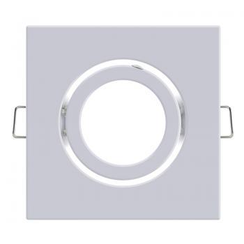 Aro Basculante Cuadrado Blanco Serie Eco Para Gu10/mr16