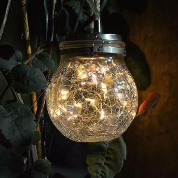 Solar Led Sphereglass Vintage Exterior