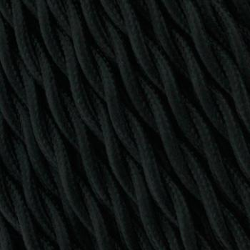 Cable Textil Negro Trenzado - 25 Metros