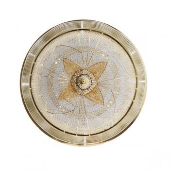 Plafón Decorativo Led Circle Flower Gold