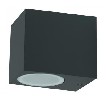 Aplique de Pared Black Kube Mini Gu10 Ip54