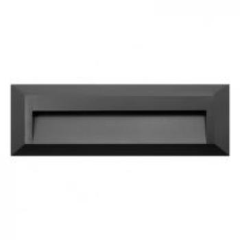 Baliza de Superficie Led Rectangular Wall Negro 2W Ip65