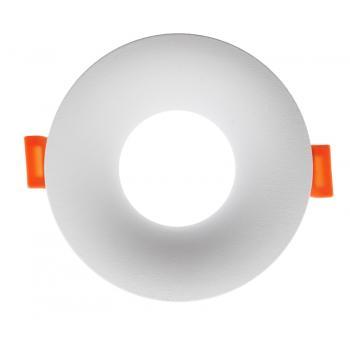 Aro Fijo Redondo Blanco Serie Infinity Para Gu10/mr16