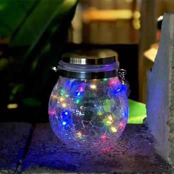 Lâmpada Solar Led Sphereglass Vintage Rgb Exterior