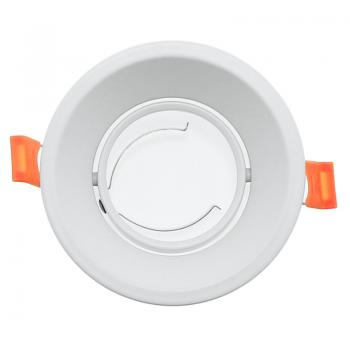 Aro Basculante Redondo Branco Serie Evo Para Gu10/mr16